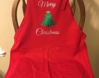 Merry Christmas Apron - Christmas Apron