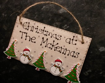 Personalised 'Christmas at the...' Hanging
