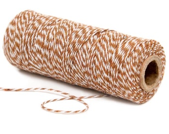 Bakers Twine, 4 Ply Bakers Twine, 100 Yard Spool of Twine, Brown Bakers Twine, Cowboy Cowgirl Party Favors, Rustic Camping Party Supplies