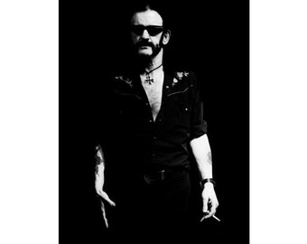 8 x 12 inch LEMMY KILMISTER / MOTÖRHEAD Original Hand-printed, Signed Photograph by World Renowned Rock 'n' Roll Photographer Ami Barwell