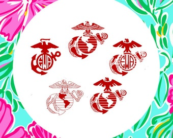 USMC Semper Fi Cutting Files in Svg, Eps, Dxf, Png, Jpeg, and Studio for Cricut & Silhouette
