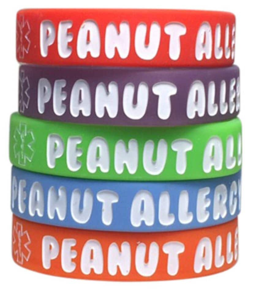 Kid S Peanut Allergy Bracelet Medical Id Silicone Alert