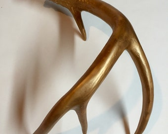 Hand Painted Whitetail Deer Antler - Bronze