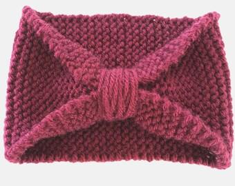 Head wrap, knit head wrap, head band, knit headband, women's headband,ear warmers,ear warmer,maroon headband, cinched headband, turban, wrap