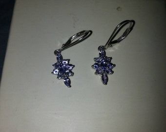 New Genuine Natural Tanzanite Earrings
