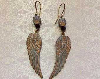 Angels Wings Vintage Style Earrings