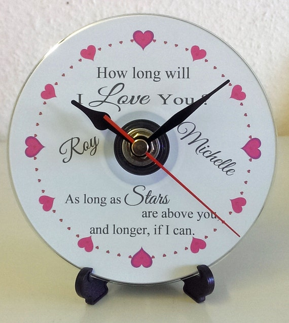 ... Clock Birthday Engagement Valentines Birthday Anniversary Wedding Gift