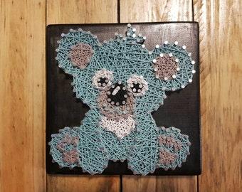 Baby Koala Bear Woodland Animal String Art Wall Art