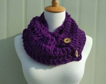 Crochet Infinity Scarf Circle Cowl Neck Warmer