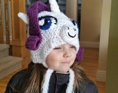 Rarity (inspired My Little Pony) Hat