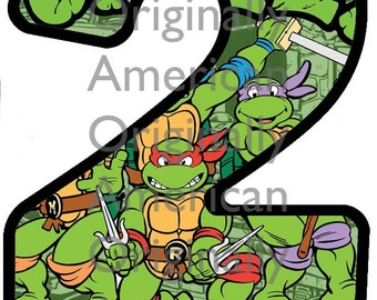 Teenage Mutant Ninja Turtles Birthday Iron On Transfer DIGITAL IMAGE ONLY