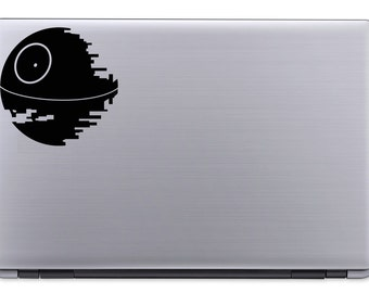 Death Star, Vinyl Decal, Laptop Decal, Computer Decal, Vinyl Ipad Decal, Computer Sticker