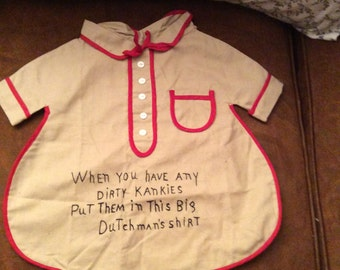 Clothes pin bag, laundry bag, Dutchman's shirt laundry bag