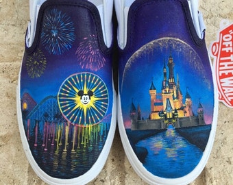 Disney World and Disneyland Painted Vans Custom Shoes - Shanny's Shoes