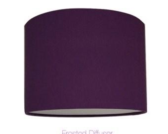 Purple Drum Lightshade With Diffuser  / Various Sizes / 40cm / 45cm / 50cm