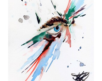 You have no direction - Watercolour Expressionism Art Print
