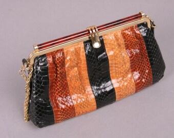 80s snakeskin bag