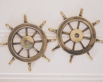Vintage Metal Captains Wheel | Antique | Old | Collectible | Home Decor | Nautical