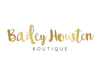 Premade logo boutique / premade logo gold design / jewelry logo / premade design small business logo branding