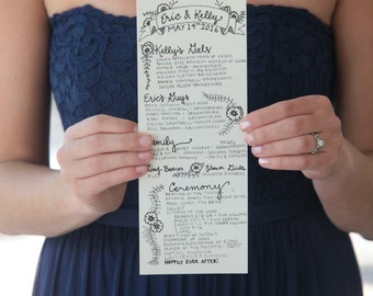 Customized Wedding Programs