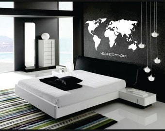 Wall Decor vinyl sticker decal - Welcome to my world
