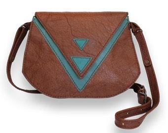 Egyptian-Inspired Leather Handbag