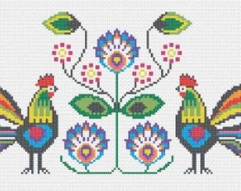 Polska - Polish Folk Art Cross Stitch Kit