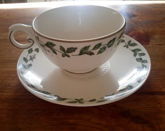 Two Cup and Saucer Sets, Cameo Rose, by Hall China