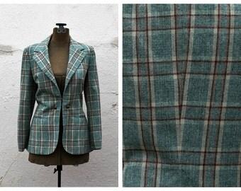 Vintage Plaid Wool Blazer // Littler Seattle