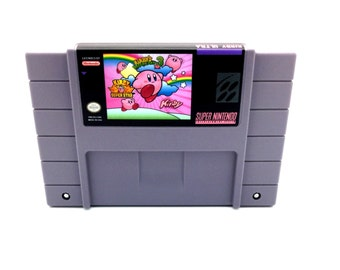Kirby's dreamland 3 and Kirby Superstar multigame SNES Reproduction - snes repro