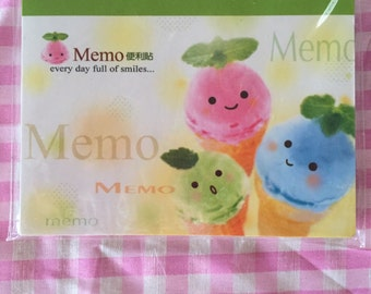 Kawaii Ice Cream Sticky notes memo pad