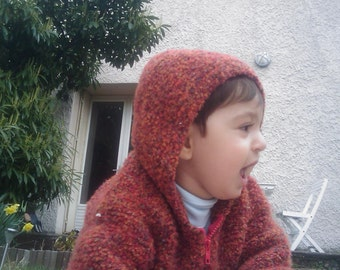 Jacket hood child - pumpkin
