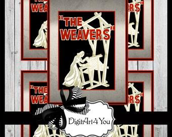 Greeting Card/Cards/Weave/Weaving/Yarn/Weavers/Basket/Artisan/Haute Couture/Retro/Unusual/DIY Card/Vintage Collage/Collage/Blank Cards
