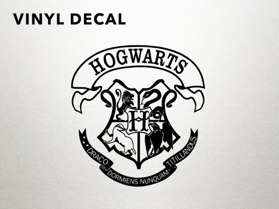 Hogwarts decal harry potter hogwarts sticker by dungeonsanddecals - Hogwarts decal ...