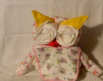 Diaper Owl, Baby Shower Decoration, New Baby