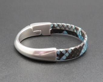 Bracelet leather python Kobri