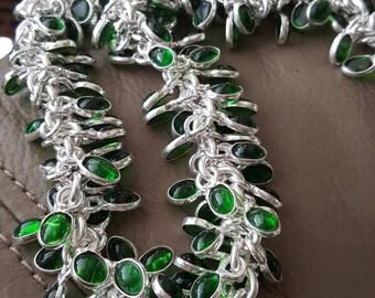 Green Quartz Necklace- 18- 19 inches! SALE!!!