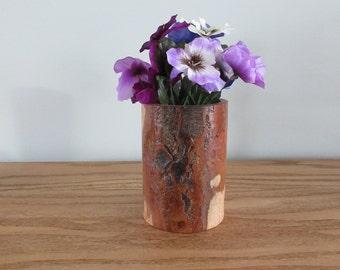 Natural Cherry Wood Vase