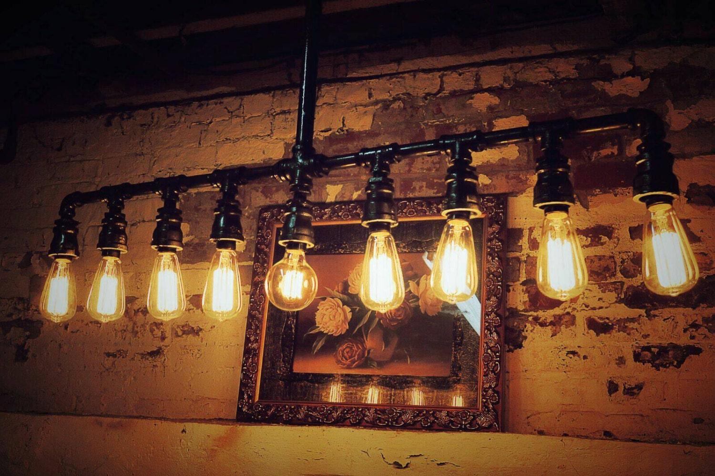 Industrial Ceiling Chandelier Light Bar Steampunk Pipe