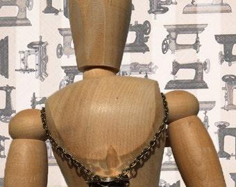 Bronze Chain Theodora Bobbin Necklace
