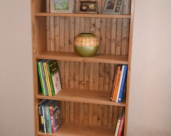 Solid Pine, hand made, hand waxed Bookcase