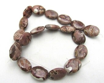 1 Strand Natural Jasper Gemstone Oval Beads (B19L)
