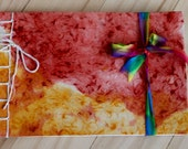 The Star Child and the Rainbow Bridge, Custom order birthday book, Personalized story, handmade book