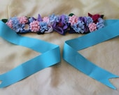 Wool Felt flower crown, May Fair flower crown, handmade birthday crowns