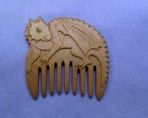 Wooden comb Dragon Wooden comb hair Hair accessories made of wood Wood carving Handmade comb Gift for woman For witch  Fantasy