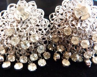 Sparkly vintage earrings