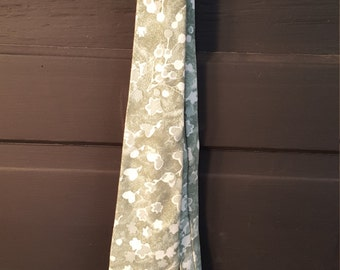 Vintage Sage Green and White Tie