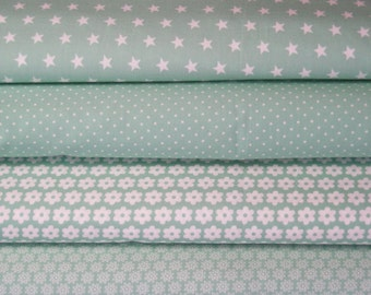 Mint fabric package 4 substances 50 x 145 cm