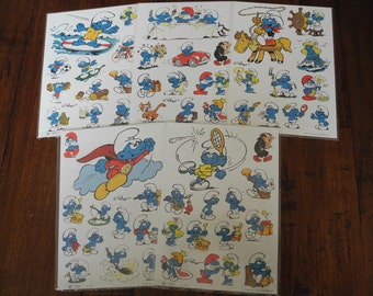 Vintage The Smurfs stickers