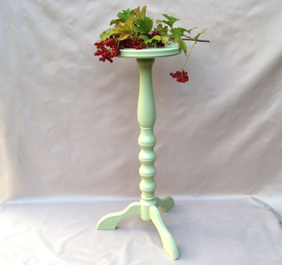 Nice Green Plant Stands Indoor : plant stand Wooden green flower stand Farmhouse gardening gift Indoor ...